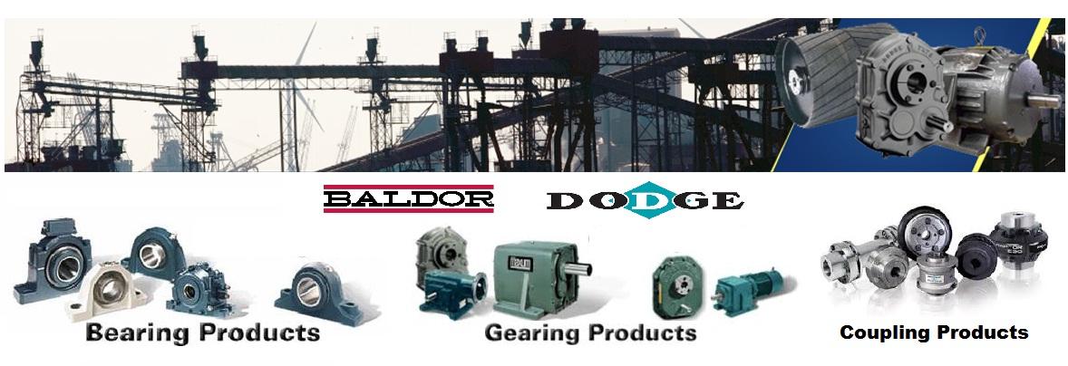 các dòng sản phẩm vòng bi, hộp giảm tốc, khớp nối  baldor-dodge usa