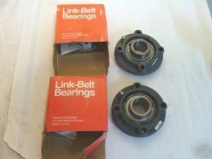 link-belt-fc3-u224n-set-of-2-flanged-ball-bearings-picture